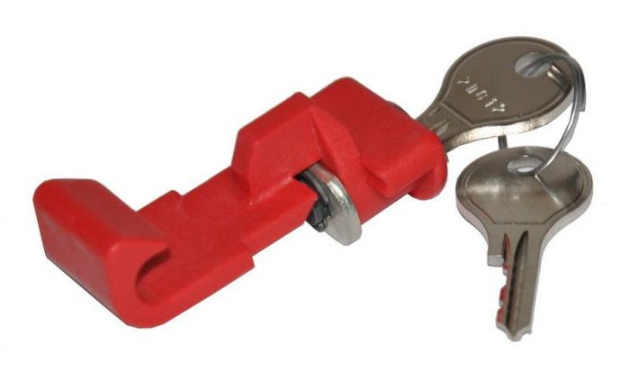 Knap til styr adapter med lås